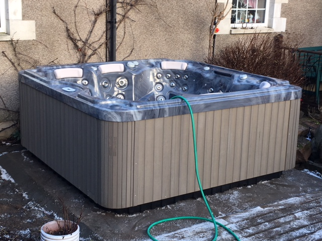 Wellis Mercury hot tub install in Hawick